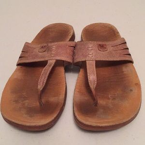 Chaco leather thong sandals